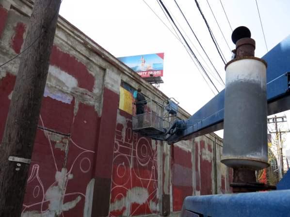 Ruben Sanchez, Street art mural, Brooklyn, New York City, 2016. Photo credit Luis Lucas.