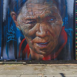 Adnate, Street Art Mural, Fitzroy, Melbourne, Australia 2016. Photo credit p1xels.
