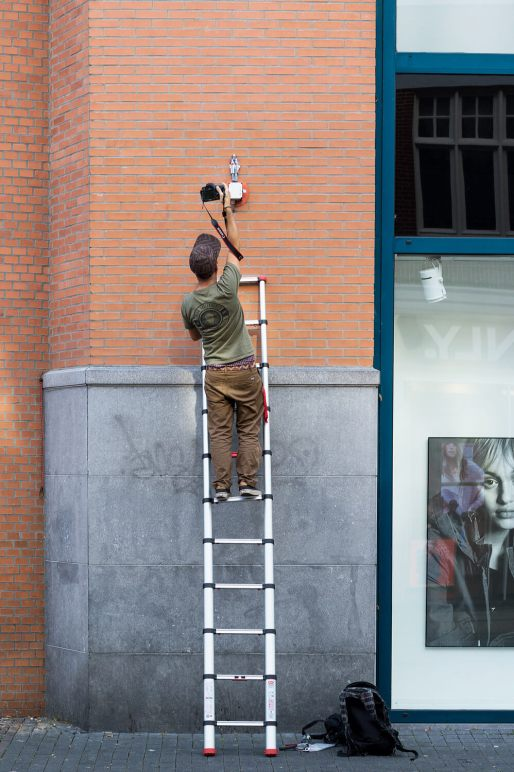 Issac Cordal, Heerlen Murals, Street Art Netherlands. Photo Credit Henrik Haven