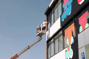 Ben Eine, Heerlen Murals, Street Art Netherlands. Photo Credit Henrik Haven