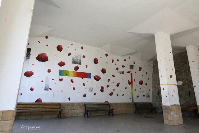 G Loois, NOSTOI Fest, Street Art Festival, Gerocarne, Italy Photo Credit Bruno Arena