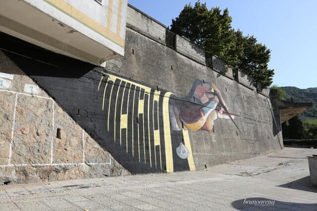 Basik, NOSTOI Fest, Street Art Festival, Gerocarne, Italy Photo Credit Bruno Arena