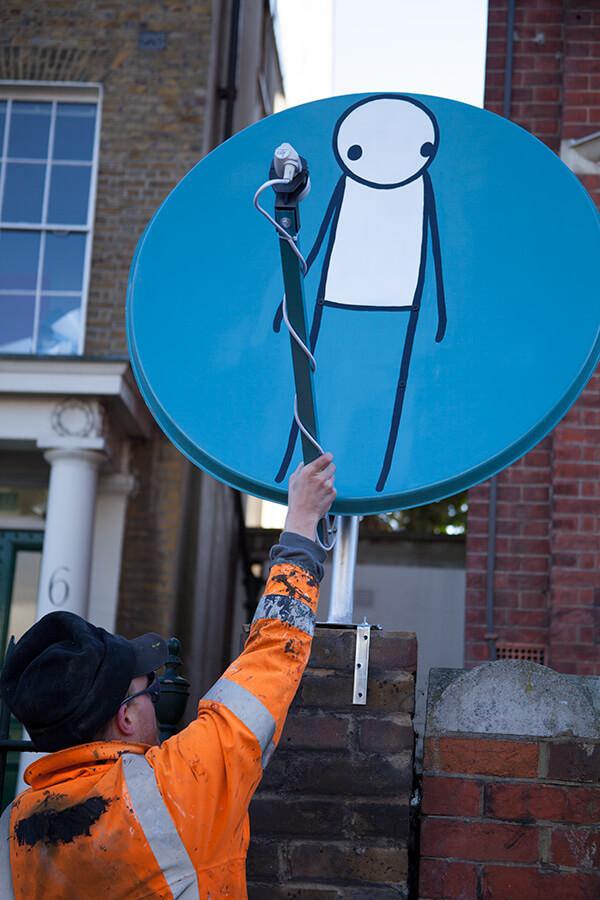 Stik, Street art piece 'Seen', Hackney, London