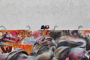 PichiAvo's mural will remain on display until the end of May 2017