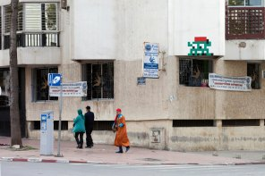 Space Invader RBA_10, Invasion of Rabat. Photo credit Invader