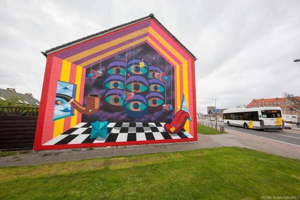 Buck Collective, The Crystal Ship Street Art Festival 2017, Photo Credit Ian Cox