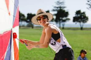 Alyssa Irizarry, Seawalls: Artists for Oceans, Napier, NZ. Photo Credit Emily Raftery