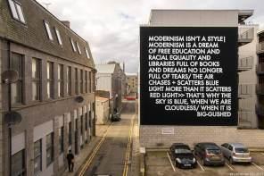 Robert Montgomery, Nuart Aberdeen Street Art Festival 2017. Photo Credit Ian Cox