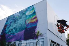 Cryptik, Seawalls: Artists for Oceans, Napier, NZ. Photo Credit Emily Raftery