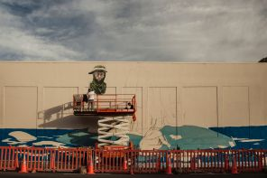 Rustam Qbic, Seawalls: Artists for Oceans, Napier, NZ. Photo Credit Vinny Cornelli