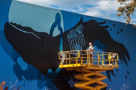 Sabek, Seawalls: Artists for Oceans, Napier, NZ. Photo Credit Vinny Cornelli
