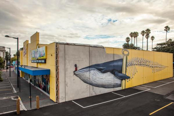 Seth Globepainter, Seawalls: Artists for Oceans, Napier, NZ. Photo Credit Vinny Cornelli