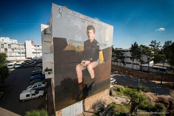 Mehdi Anassi Mouad, Jidar Street Art Festival, Rabat 2017