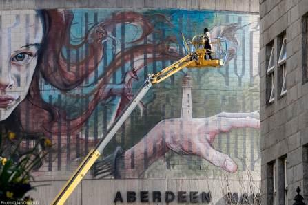 Herakut, Nuart Aberdeen Street Art Festival 2017. Photo Credit Ian Cox