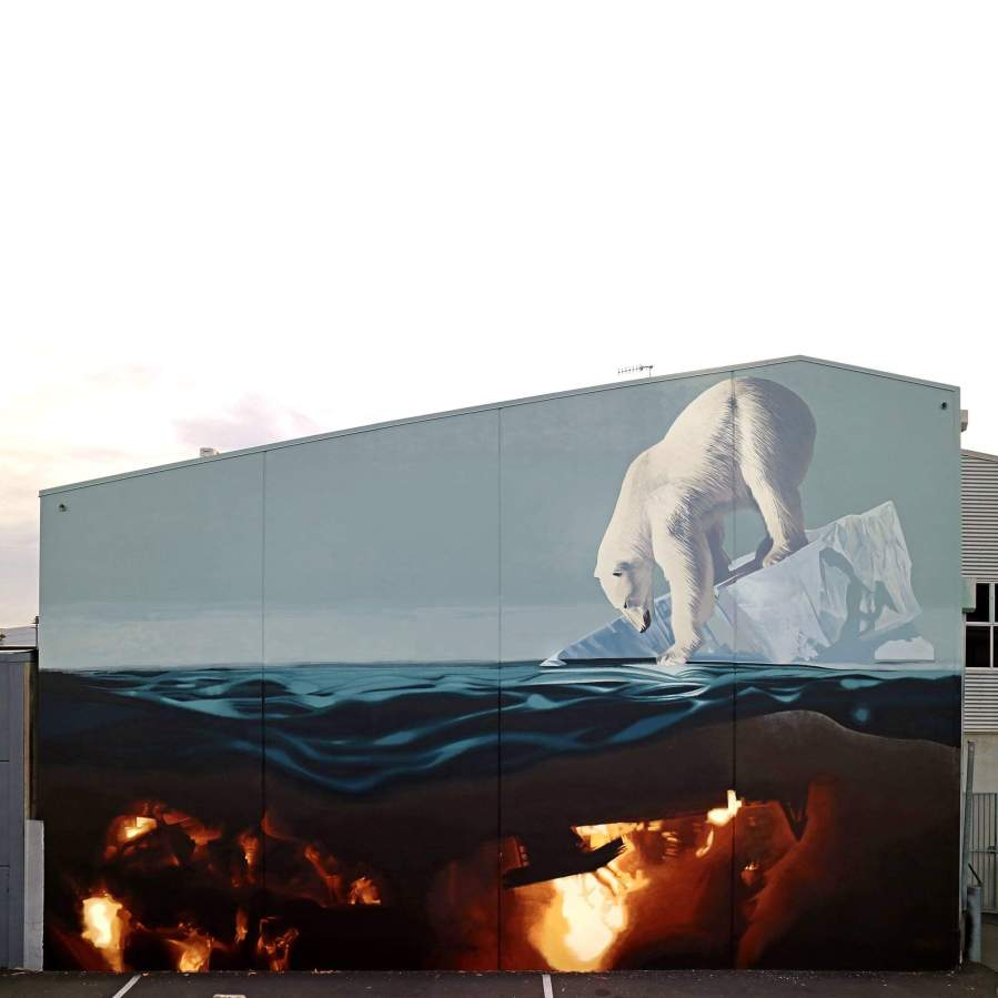 Onur, Seawalls: Artists for Oceans, Napier, NZ. Photo Credit Miyuki McGuffie