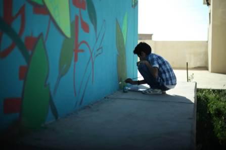 Ernesto Maranje, Street Art Deer, Iraq 2017. Photo Credit aptART