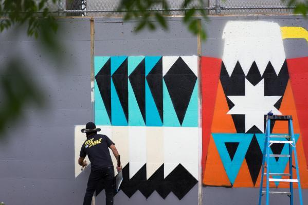 Kaplan, POW! WOW! Street Art Festival 2017, NoMa, Washington D.C. Photo Credit POW! WOW!