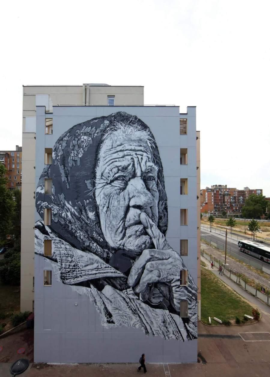 ECB Hendrik Beikirch, Wall Street Art, Evry, Paris. Photo Credit Mathgoth gallery