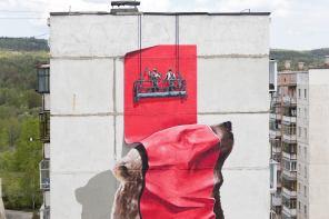 NeverCrew, Satka Street Art Festival, Russia 2017. Photo Credit NeverCrew
