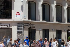 Invader's invasion of Malaga 2017. Photo credit Invader