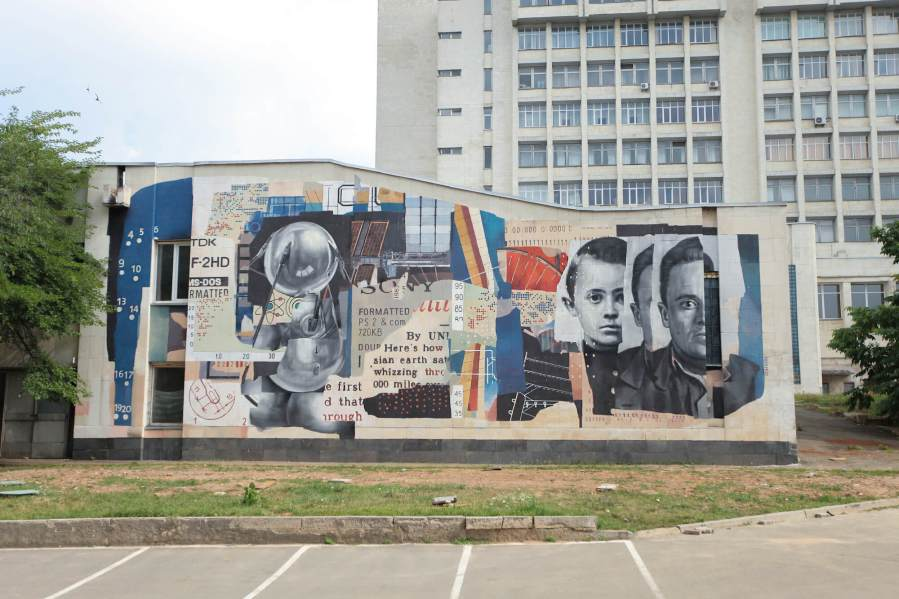 Marat Morik, Street Art Mural, Back to School! Ukraine 2017