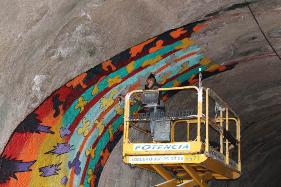Spaik, Street art mural. Photo credit Bloop Festival 2017.