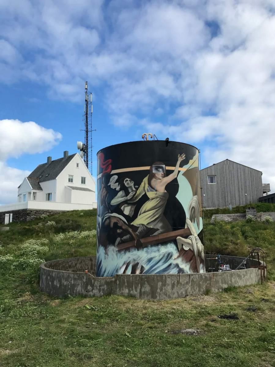 Elle, UpNorth Street Art Festival, Røst, Norway 2017. Photo Credit @Toris64