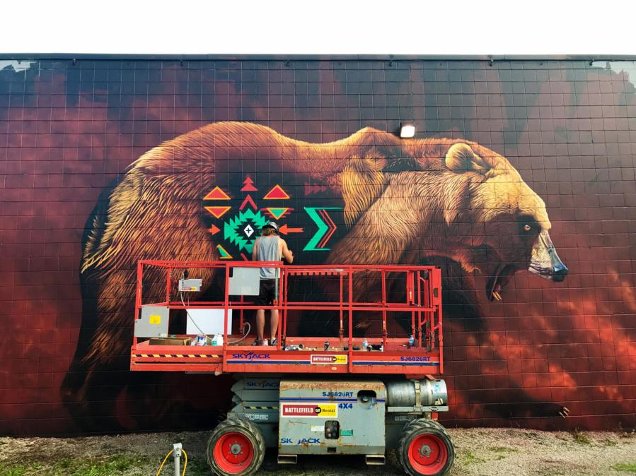 Sonny, Bear, Cambridge Street Art Festival, Canada. Photo Credit Sonny