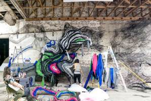 Crystal Wagner, The Unexpected Urban Art Festival, Fort Smith, Arkansas 2017. Photo Credit JustKids