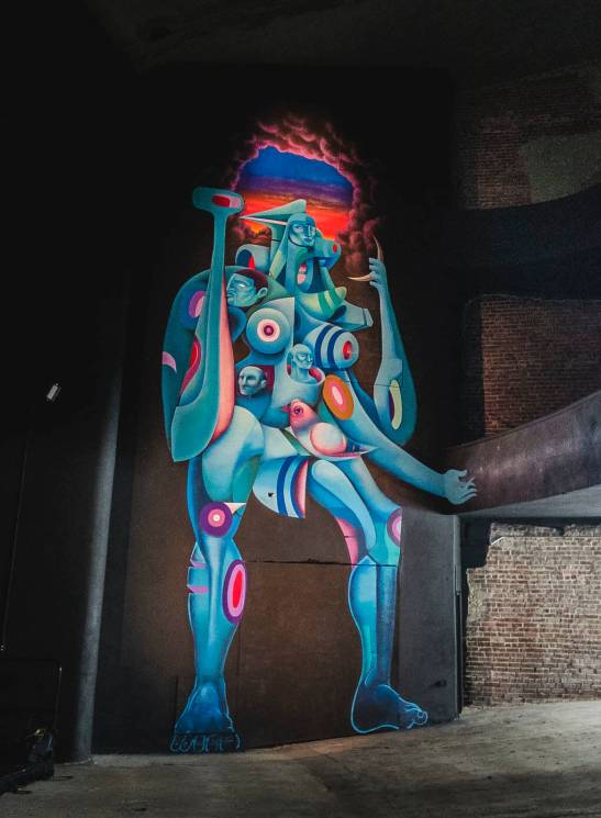 Doze Green, The Unexpected Urban Art Festival, Fort Smith, Arkansas 2017. Photo Credit JustKids