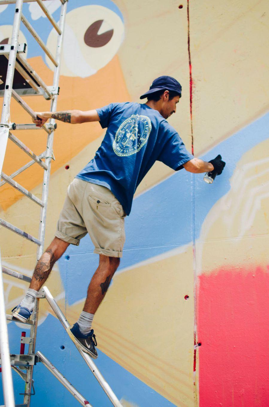Greediness-street-art-mural-FERNANDO-LEON-urban-art-l'Hospitalet-de-Llobregat-Barcelona-pc-Clara-Antón-Contorno-Urbano-3