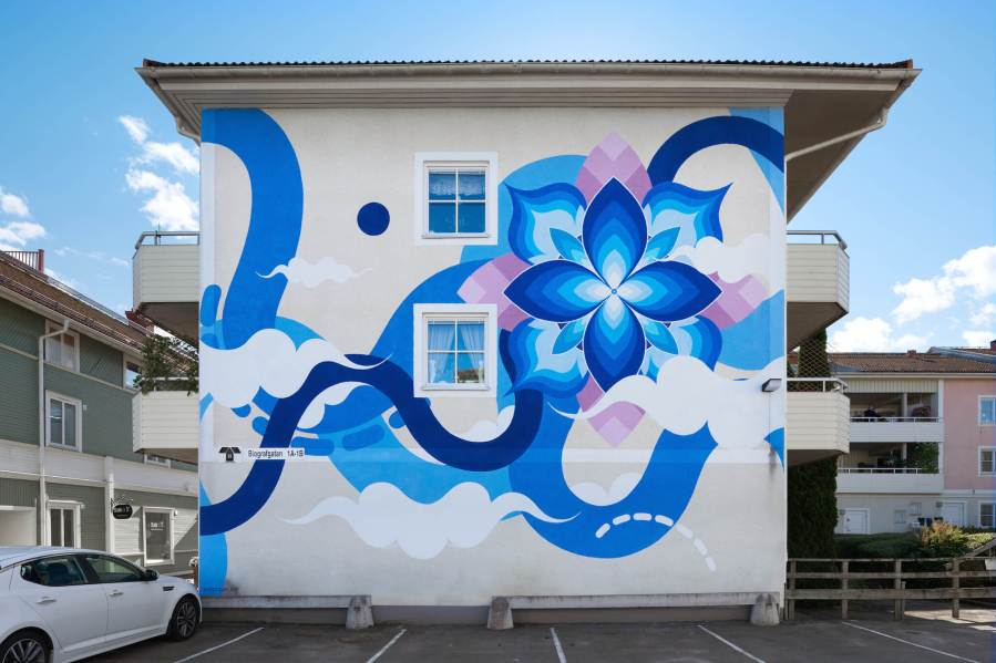 Hitotzuki, Artscape Street Art Festival, White Moose Project, Sweden 2017.