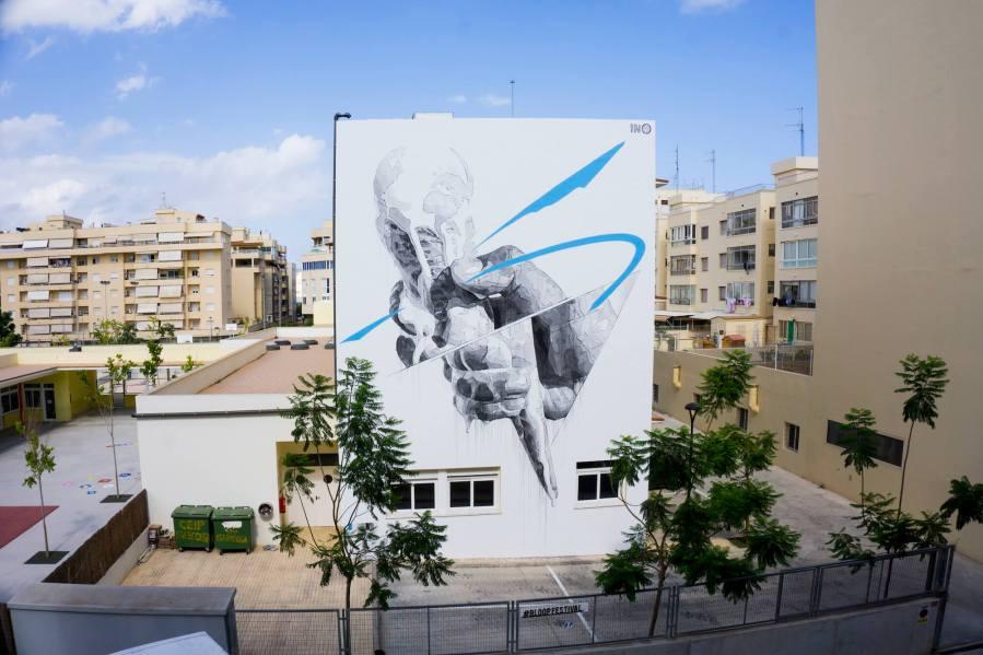 INO, Street art mural. Photo credit INO and BLOOP Festival 2017.