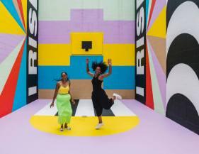 Lakwena and Abimaro, The Unexpected Urban Art Festival, Fort Smith, Arkansas 2017. Photo Credit JustKids