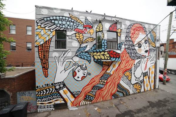Ola Volo, Mural International Public Street Art Festival, Montreal, Canada 2017. Photo credit @halopigg