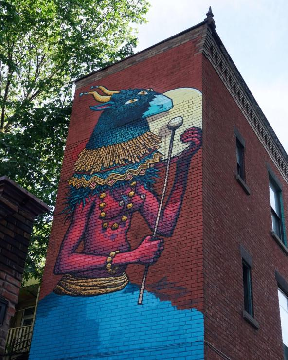 SBU ONE, Mural International Public Street Art Festival, Montreal, Canada 2017. Photo credit @halopigg