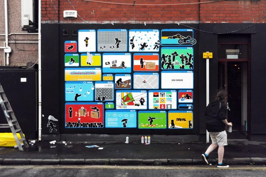 Pahnl, Click Click Street Art Mural, UpFest, Bedminster, Bristol 2017. Photo Credit Pahnl.