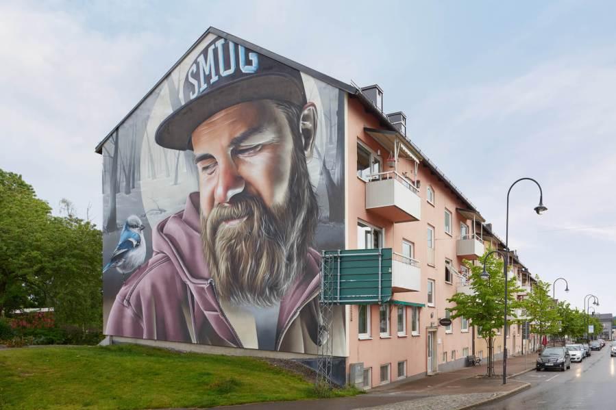 Smug, Artscape Street Art Festival, White Moose Project, Sweden 2017.