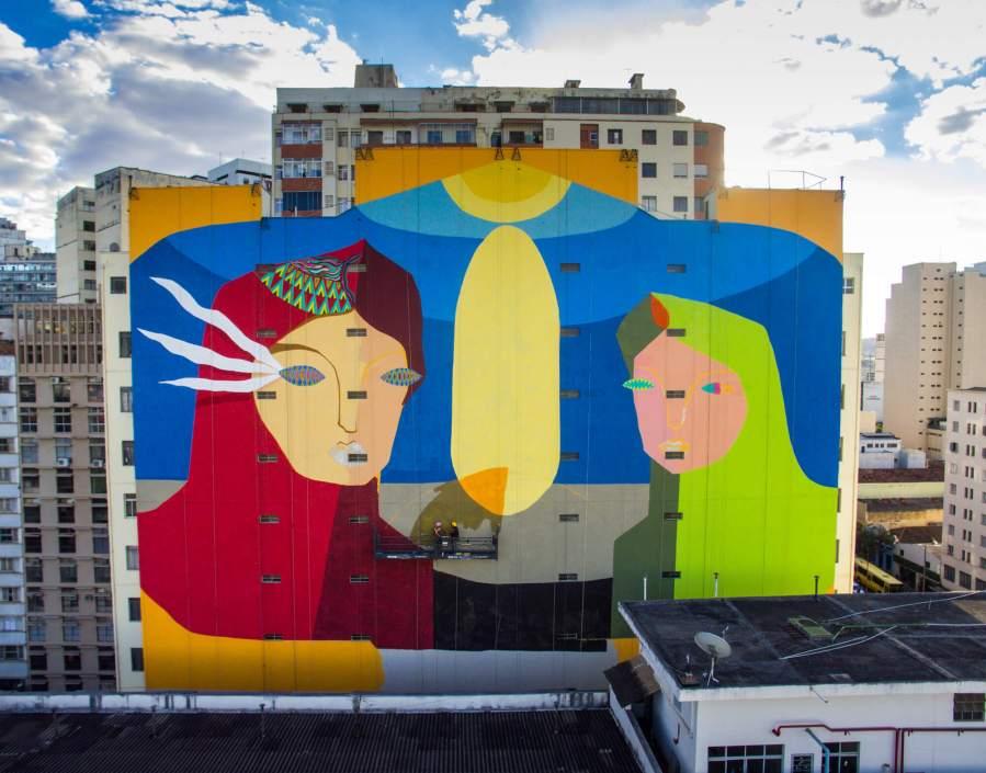 The Acidum Project, CURA Street Art Festival, Belo Horizonte, Brazil 2017. Photo Credit Instagrafite