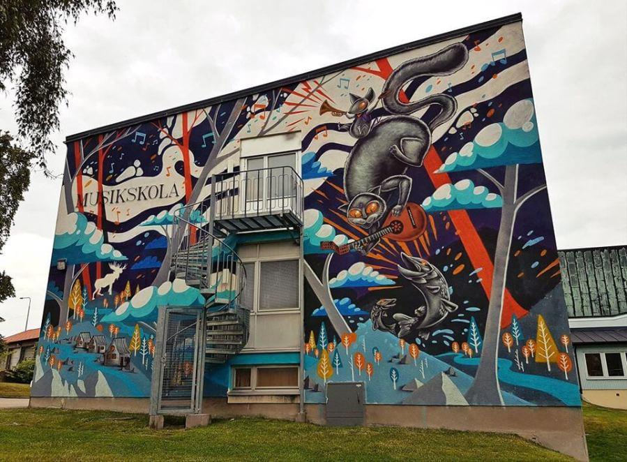 Captain Kris, Artscape Street Art Festival, White Moose Project, Sweden 2017.