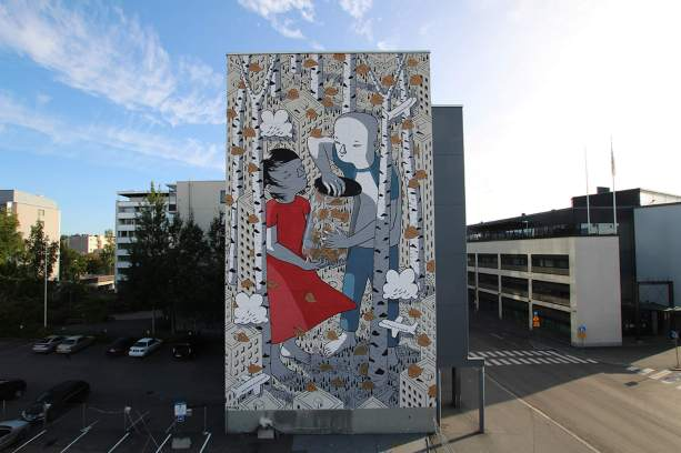 Millo, UPEA Street Art Festival, Finland. Photo Credit Millo.