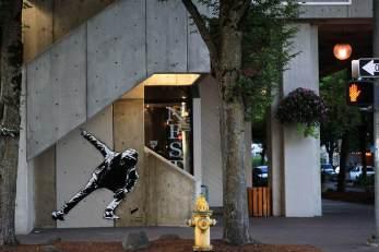 Blek le Rat, 20x21EUG Mural project, Downtown Eugene 2017. Photo Credit Athena Delene