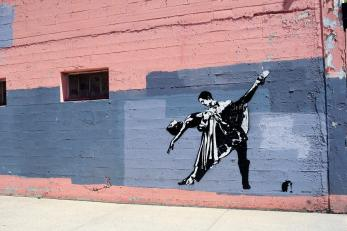 Blek le Rat, Tango Dancer, 20x21EUG Mural project, Tacovore, Eugene 2017. Photo Credit Athena Delene
