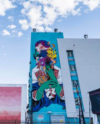 Bicicleta, Life is Beautiful, Urban Art Festival, Downtown Las Vegas 2017. Photo Credit Justkids
