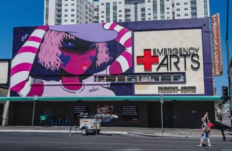 Fafi, Life is Beautiful, Urban Art Festival, Downtown Las Vegas 2017. Photo Credit Justkids