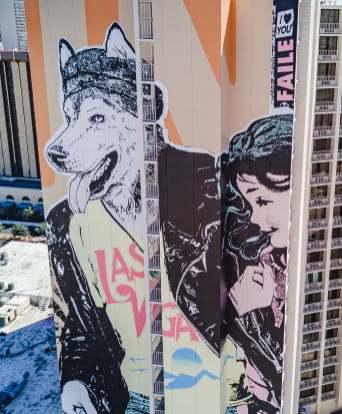 Faile, Life is Beautiful, Urban Art Festival, Downtown Las Vegas 2017. Photo Credit Justkids