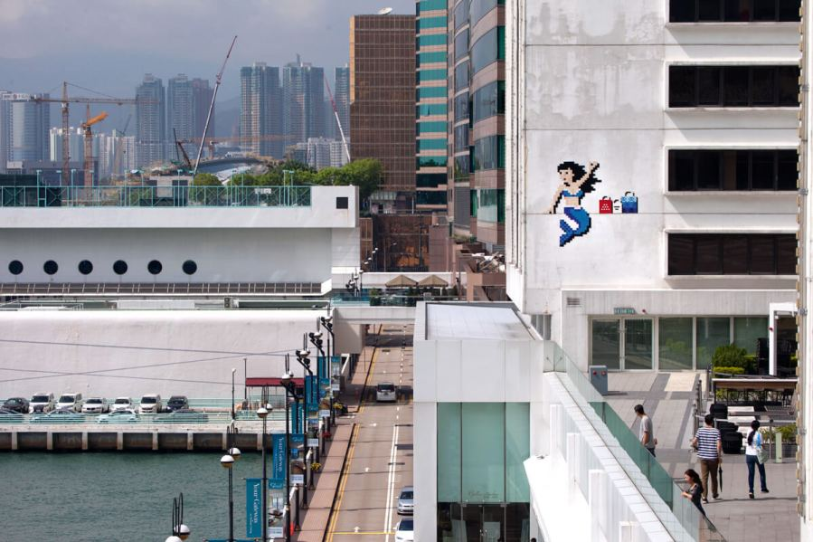 Invader, Space Invasion, Hong Kong 2017. Photo Credit Invader