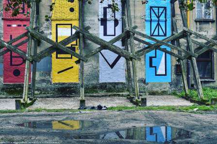 Kasia Breska, Lodz 4 Cultures, Urban Art Festival 2017. Photo Credit Agnieszka Kuraszewska