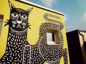 Joachim, Cat Street Art Mural , Lier Belgium 2017.