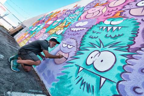 Kevin Lyons, Life is Beautiful, Urban Art Festival, Downtown Las Vegas 2017. Photo Credit Justkids